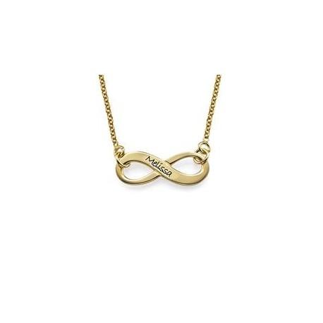 """Zlata verižica """" Infinity z gravuro"""""""