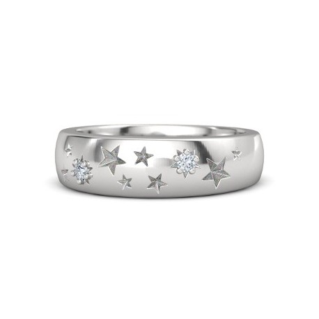 """Srebrn prstan """"Zvezdice"""""""