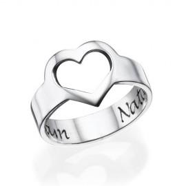 "Srebrn prstan ""Moje srce"""