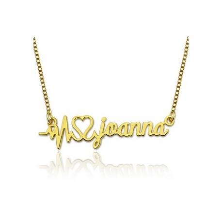 """Zlata verižica """"Utrip srca ime"""""""