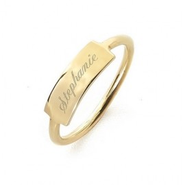 """Zlat prstan """"Ime ploščica"""""""