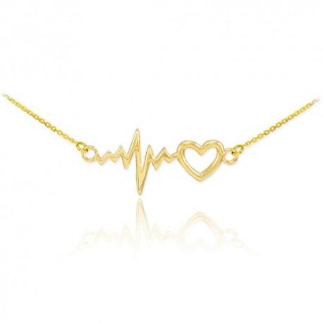 """Zlata verižica """"Utrip srca + srce"""""""