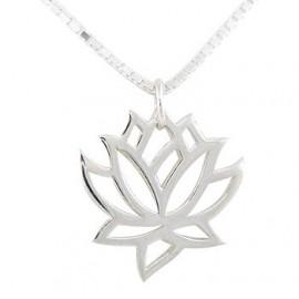"""Srebrna verižica """" Lotusov cvet"""""""