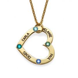 """Zlata verižica """" Srce z gravuro + kristal"""""""