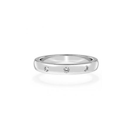 "Srebrn prstan ""3 kristal"""