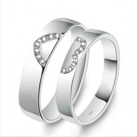 """Srebrni prstan """"2x pol srca"""" zanjo in zanj"""