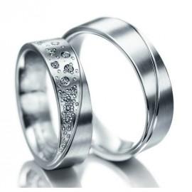 """Srebrni prstan """"Midva"""" zanjo in zanj"""