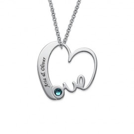 "Srebrna verižica "" Srce Love Kristal"""