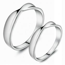 """Srebrni prstan """"We are made for each other"""" zanjo in zanj"""