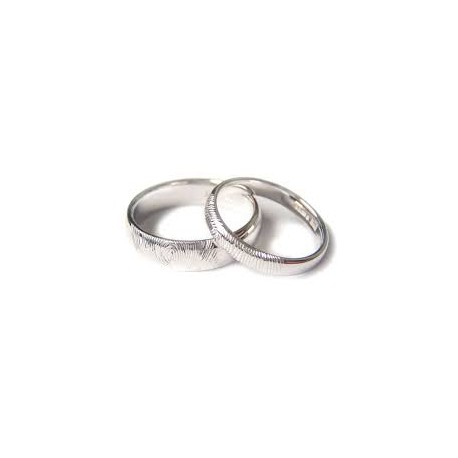 "Srebrna prstana ""2x prstni odtis"""