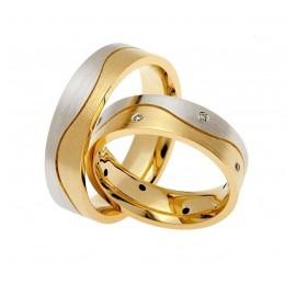 "Srebrna prstana s pozlato ""Nali K-384"""