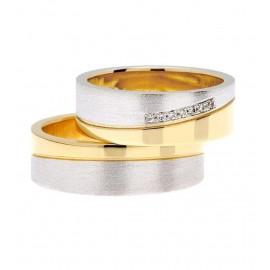 "Srebrna prstana s pozlato ""Nali K-388"""