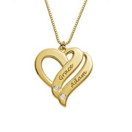 """Zlata verižica """" Dvojno srce L"""""""