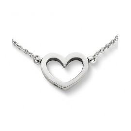 """Srebrna verižica """" Srce z gravuro + kristal"""""""