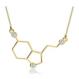 "Zlata verižica Serotonin ""Molekula sreče"""