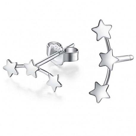 Srebrni uhani 3 zvezdice