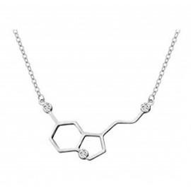 "Srebrna verižica Serotonin ""Molekula sreče"""