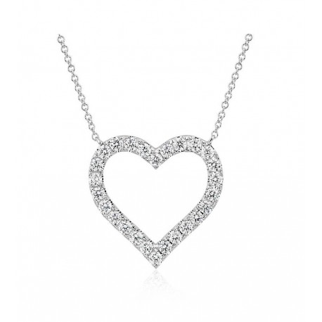 "Srebrna verižica "" Srce kristal"""