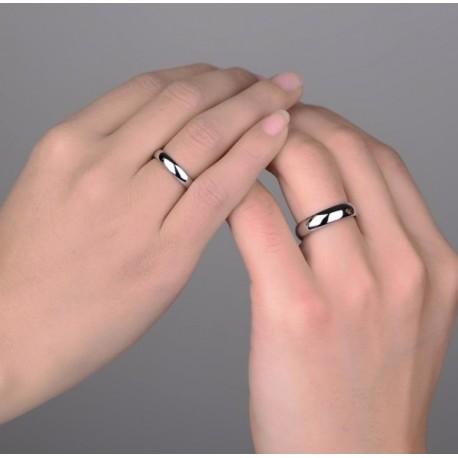 """Srebrni prstan """"2x klasika"""" zanjo in zanj"""