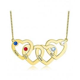 """Zlata verižica """"4 x srce"""""""