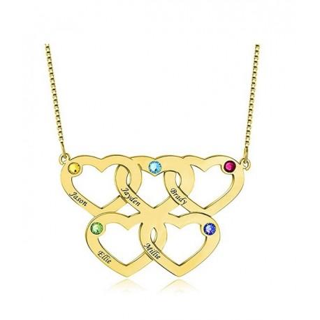 """Zlata verižica """"5x srce"""""""