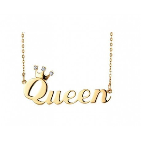 """Zlata verižica """"Ime s krono in kristalčki"""""""