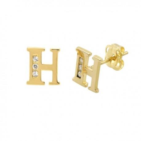 Zlati uhani s kristalčki