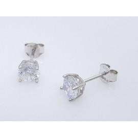 Srebrni uhani s kristalčkom