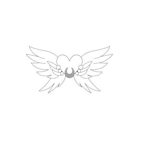 """Srebrna verižica s pozlato """"Srce-krila"""""""