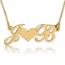 "Zlata verižica ""Začetnici + Srce"""
