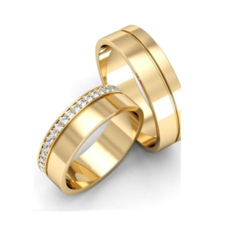 "Srebrna prstana s pozlato""Nali K-554"""